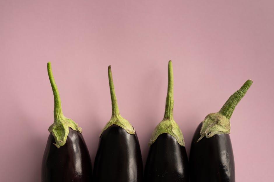 A couple of eggplant